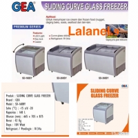 GEA SD-260BY SLIDING CURVED GLASS FREEZER KULKAS MAKANAN BEKU PREMIUM