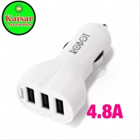 ROBOT RT-CC3S 3 USB PORTS 4.8A CAR CHARGER SAVER SAFER + MICRO CABLE