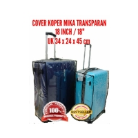 "Sarung koper 18"" / cover koper plastik mika /pelindung koper travel"