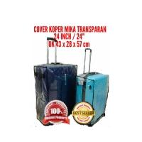 """Cover sarung pelindung koper 24"""" inch dari mika plastik transparan"""
