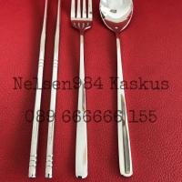 Sendok Garpu Sumpit Korea Stainless Steel 304