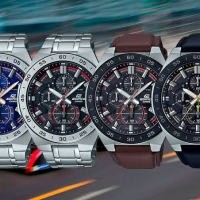 Jam Tangan Pria Merk Casio Edifice Type EFR 554 Leather Ori Bm Fre Yes
