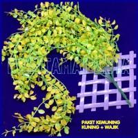 Bunga Plastik /Daun Rambat Plastik/ Daun Plastik/ Kemuning Kn Wj
