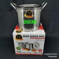 panci tinggi mini stock pot / panci masak air uk 20cm
