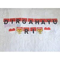 Banner Dirgahayu RI - bunting flag dirgahayu merah putih HUT Indonesia