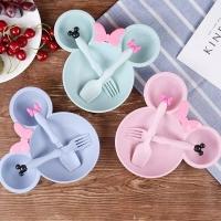 Mangkok Set Bayi Mickey Tempat Makan Bayi Plus Garpu Sendok 0001