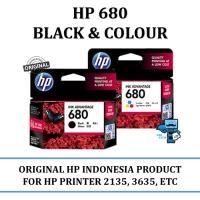 TINTA HP 680 Balck N COLOUR ORIGINAL FOR HP PRINTER 2135,3635,etc