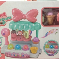 Mainan anak mini ice cream shop gerobak es krim scoop cone jual cart