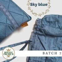 Mukena Parasut Royale Premium Sky Blue