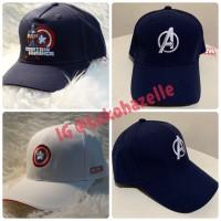 Marvel X Miniso Topi Baseball Cap Captain America Avengers