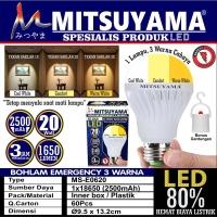 Bohlam lampu emergency LED 20W MS E0620 Mitsuyama