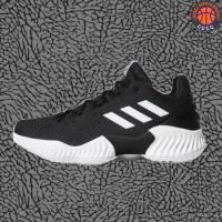 Sepatu Basket Sneakers Adidas Pro Bounce 2018 Low Black White Pria