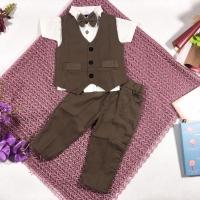 Setelan formal anak 3 - 24 bulan 2 vest rompi tahun pesta jas tuxedo