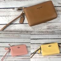 Ori NWT Authentic Leather Coach Medium Size Wristlet / Dompet