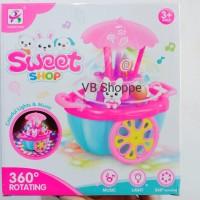 NEW! Mainan anak sweet shop car gerobak bunny kelinci lollipop music