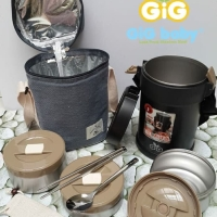 Gig baby stainless lunch box 2 liter/ lunch jar / thermos makan