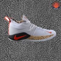 Sepatu Basket Sneakers Nike Paul George 2 PG Leopard Pria Wanita