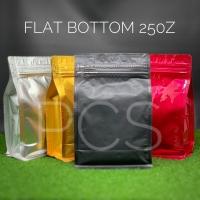 Flat bottom pouch 250Z +Side Zip Kemasan Alu foil Packaging Food Grade