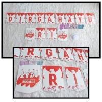 Banner Dirgahayu RI - bunting flag Merah putih HUT Indonesia