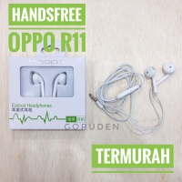 Handsfree Oppo Mic Stereo R11 Headset Earphone Jack 3,5 mm