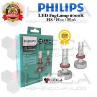 Lampu Foglamp Mobil LED PHILIPS H8 & H11 & H16 6000K Fog Lamp Kabut