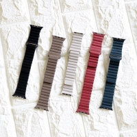 Strap Leather Loop Magnet For Apple Watch 38mm 40mm 42mm 44mm