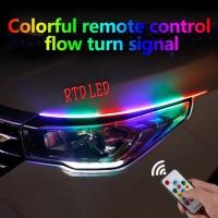 Lampu Alis RGB Drl Flexibel Slim RGB Remote Rubah Warna 60 Cm R168