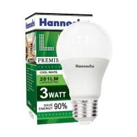 Bohlam led hannochs premier 3watt cool white lampu murah 3 watt