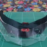 Spoiler Helm KYT R10 Custom Bahan Acrilic