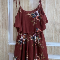 Red flower korea jumpsuit