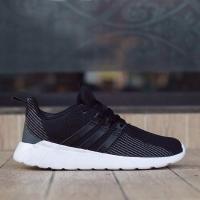 Sepatu COWO CEWE ADIDAS QUESTAR FLOW CORE BLACK WHITE