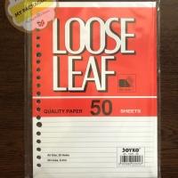 Loose Leaf / Isi Kertas File / Binder Joyko A5-7020 / 50 Lembar