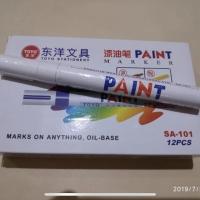 Paint marker toyo putih ban spidol