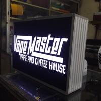 Neon box kotak 80x60 cm