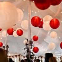 lampion merah putih kertas gantung size 20 dekorasi DIRGAHAYU HUT RI