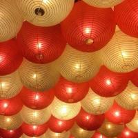 lampion gantung merah putih kertas size 25 dekorasi DIRGAHAYU HUT RI