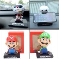 Pajangan Dashboard Mobil Anime Baymax Doraemon Mario bros Luigi