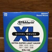 Senar gitar elektrik d addario daddario 008 EXL-130 original