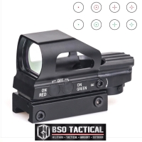Tactical Scope Holographic Red Green Dot Sight 4 Reflex 20mm Airsoft