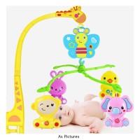 Musical Mobile Bed Bell Mainan Gantung Gantungan Baby Box Rattles Bayi