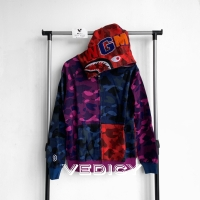 HOODIE JAKET BAPE BATHING APE SHARK MULTICOLOR SUPER MIRROR 1:1 ORI