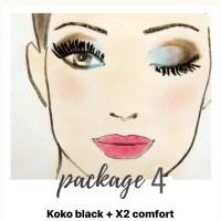 PAKET 4 softlen - KOKO BLACK dan X2 COMFORT 120ML