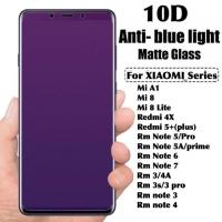 Tempered glass anti blue light 10D xiaomi redmi 3s 3 pro 4A note 3 4