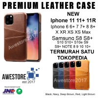 Leather Case Card Casing Kulit Iphone 11 Pro Max 12 XI X XR XS Promax