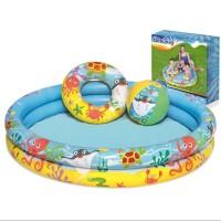 Kolam Renang Anak Bonus Bola dan Ban Bulat BESTWAY Play Pool Set