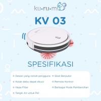 Kurumi KV 03 Robot Vacuum Cleaner alat vakum sapu pel otomatis kv03