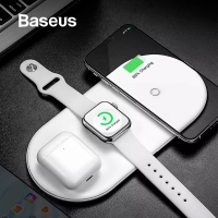 BASEUS Charger Fast Wireless 3 in 1 For Iphone Apple watch Airpods