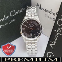 Jam Tangan Wanita Alexandre Christie AC 1010 Silver Black Original