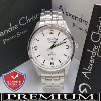 Jam Tangan Pria Alexandre Christie AC 1010 Silver Original