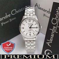 Jam Tangan Wanita Alexandre Christie AC 1010 Silver Original